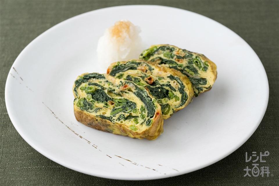 ほうれん草入り卵焼き(ほうれん草+卵を使ったレシピ)