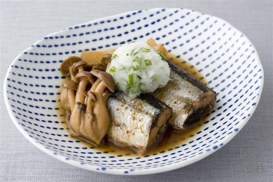 さんまの筒煮 山椒風味(さんま+しめじを使ったレシピ)