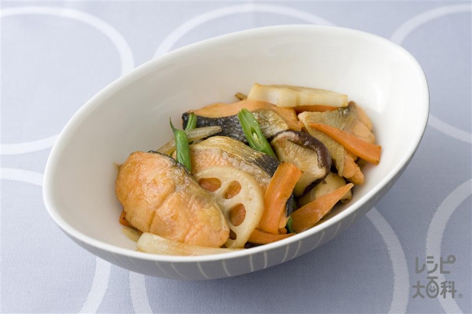 さけの甘辛煮(さけ+しょうがのすりおろしを使ったレシピ)