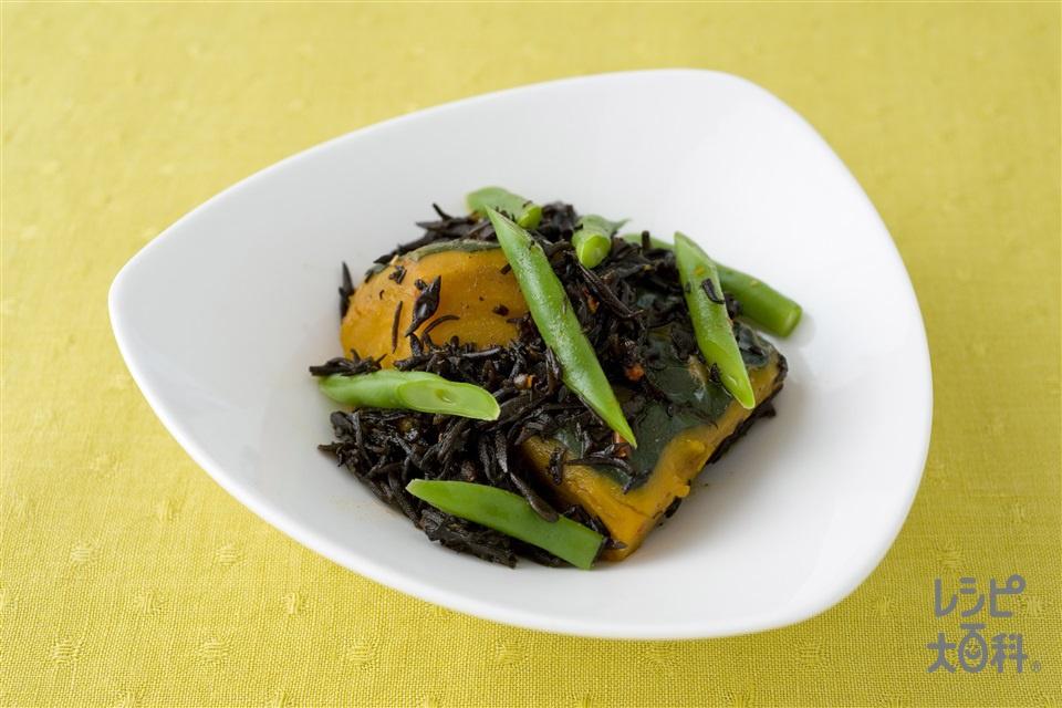 ひじきとかぼちゃの煮もの(かぼちゃ+さやいんげんを使ったレシピ)