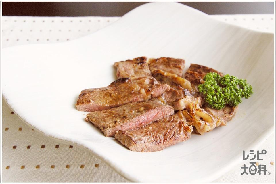 塩麹でやわらかステーキ(牛ステーキ用肉+「味の素」70g瓶を使ったレシピ)