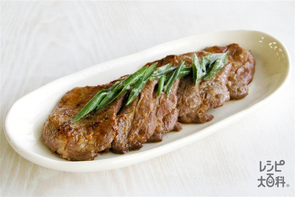 牛タンの塩麹焼き(牛タン+小ねぎを使ったレシピ)