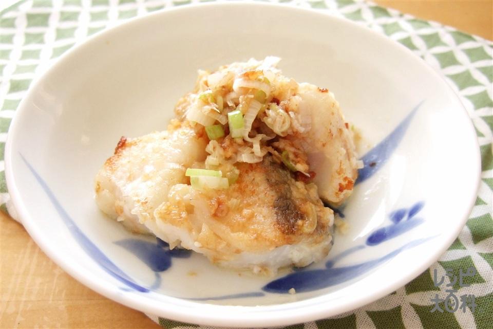 タラの和風マヨネーズ炒め(たら+A「瀬戸のほんじお」を使ったレシピ)