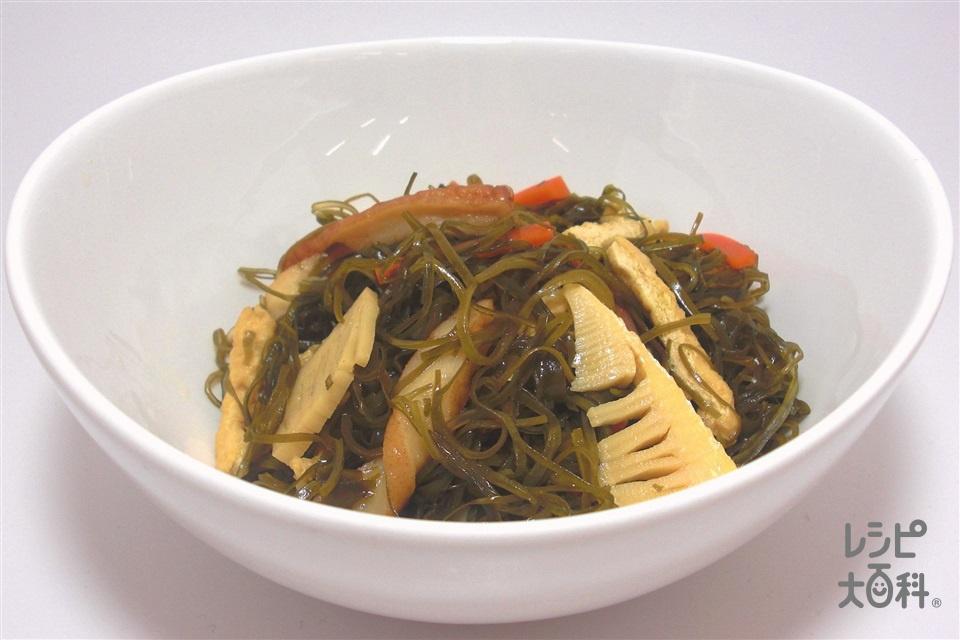 ひき昆布の煮物(ゆでたけのこ+にんじんを使ったレシピ)