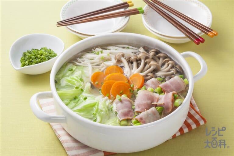 洋風アスパラベーコン鍋