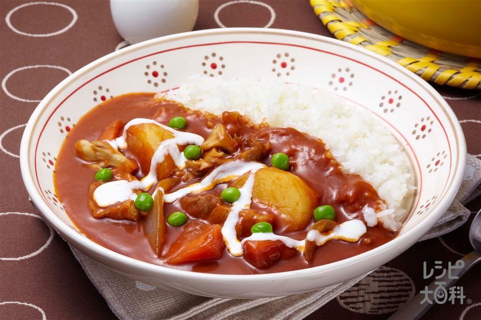 ナイス リメイク!とんじゃがハヤシライス(とんじゃがスープ+まいたけを使ったレシピ)