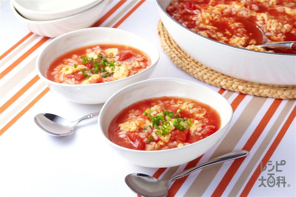 トマトおでんのシメ雑炊(トマトおでん+ご飯を使ったレシピ)