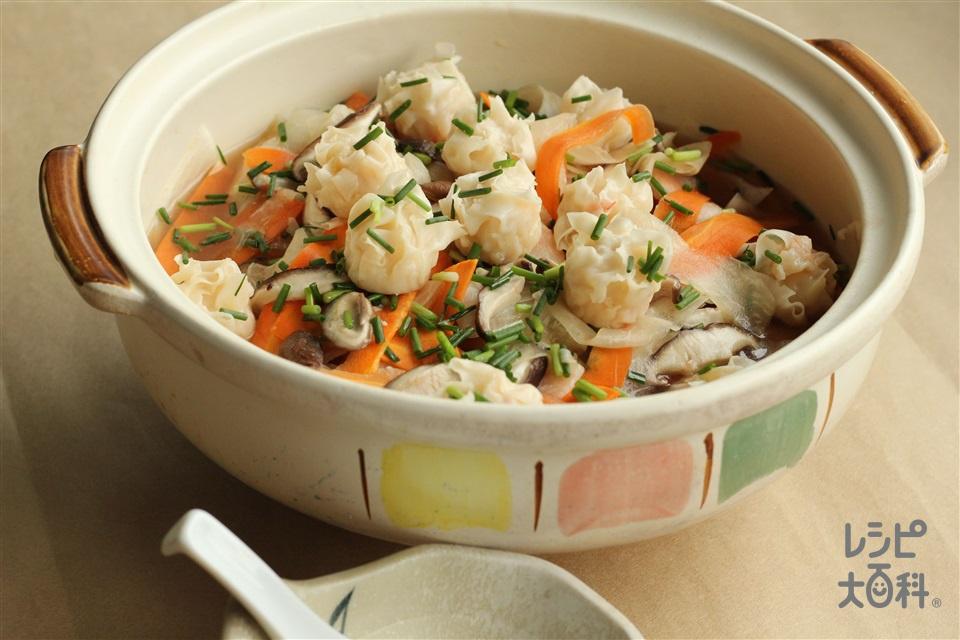 ごま油香る寄せ鍋(大根+にんじんを使ったレシピ)