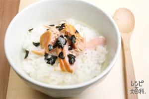 のり鮭スープかけごはん