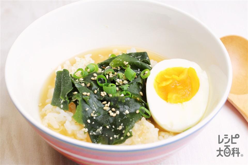 みそとろたまスープかけごはん(ご飯+半熟卵を使ったレシピ)