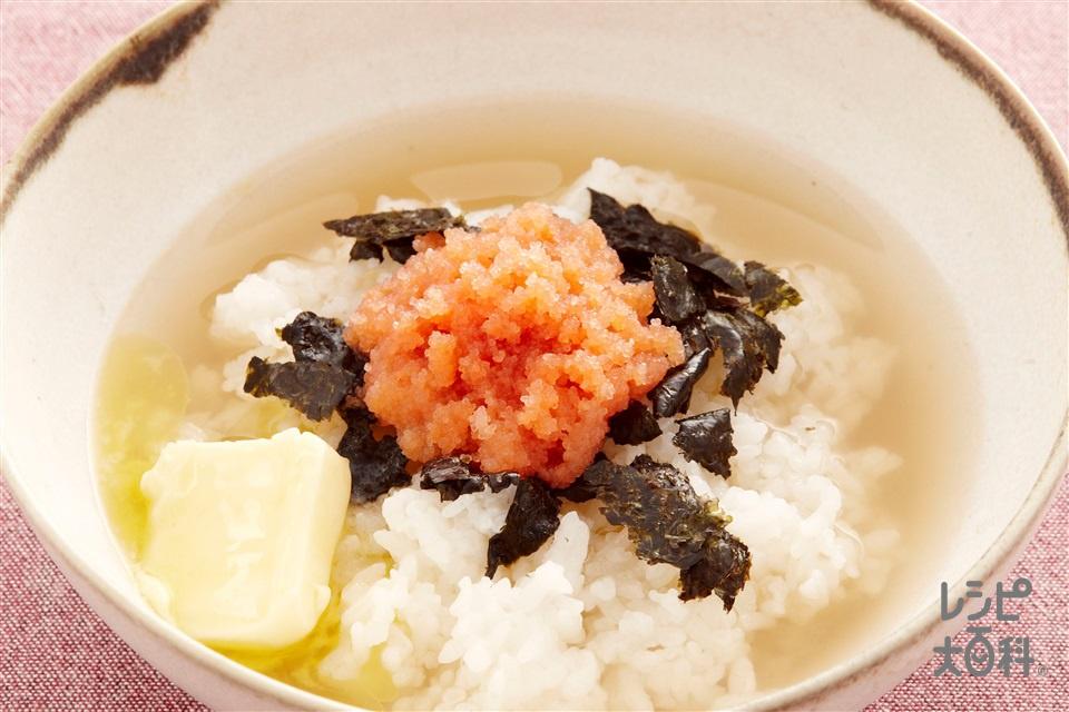 のり明太子スープかけごはん(ご飯+からし明太子を使ったレシピ)