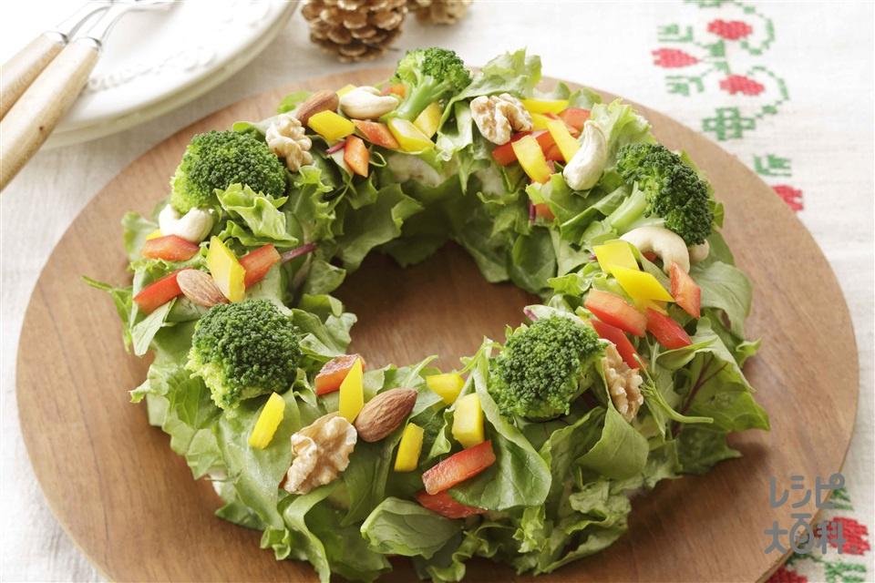 リースサラダ(じゃがいも+ロースハムを使ったレシピ)