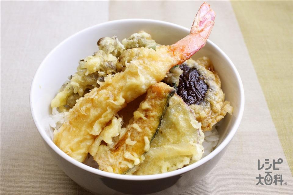 天丼(ご飯+かき揚げを使ったレシピ)
