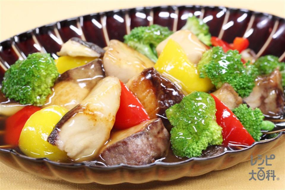 ぶりと彩り野菜の甘酢あんかけ