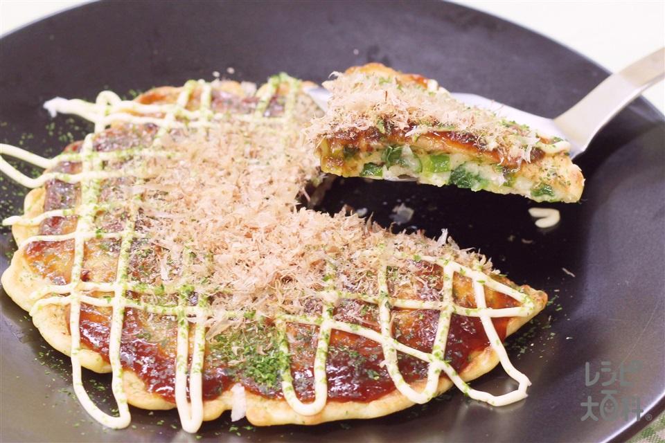 嬬恋キャベツのお好み焼き(キャベツ+豚バラ薄切り肉を使ったレシピ)