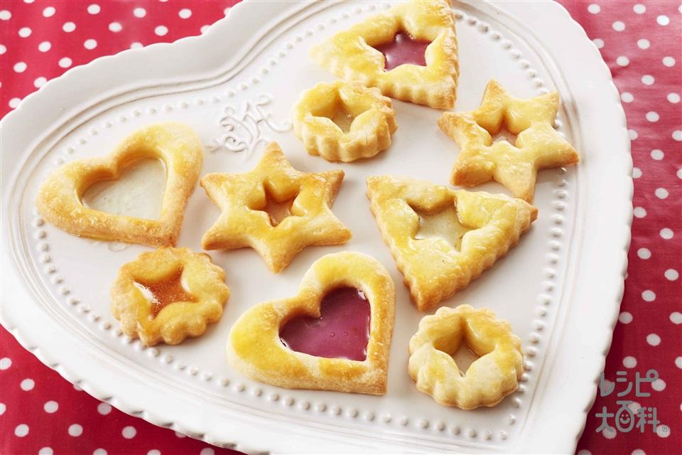 ステンドグラスクッキー(ふるった薄力粉+Aバター(食塩不使用)を使ったレシピ)
