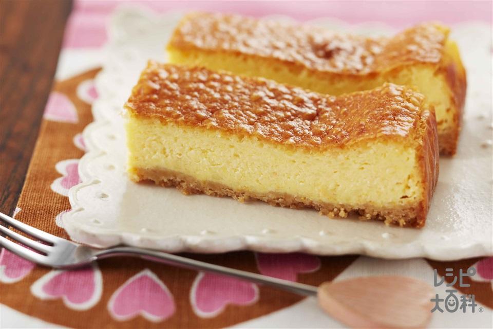 スティックチーズケーキ(クリームチーズ+バター(食塩不使用)を使ったレシピ)