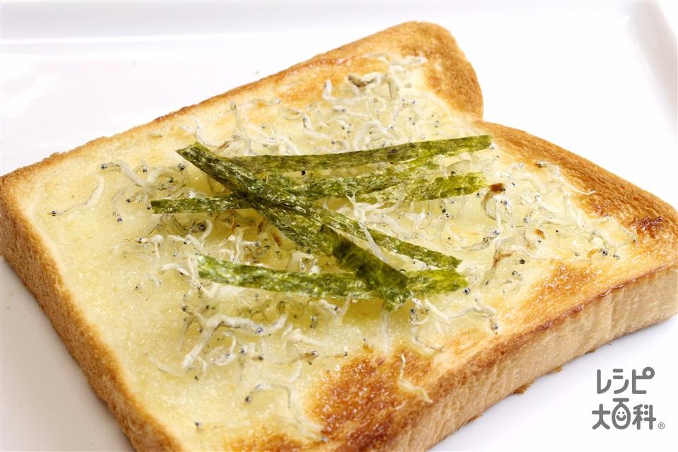 ぶっかけマヨじゃこトースト(食パン6枚切り+ちりめんじゃこを使ったレシピ)