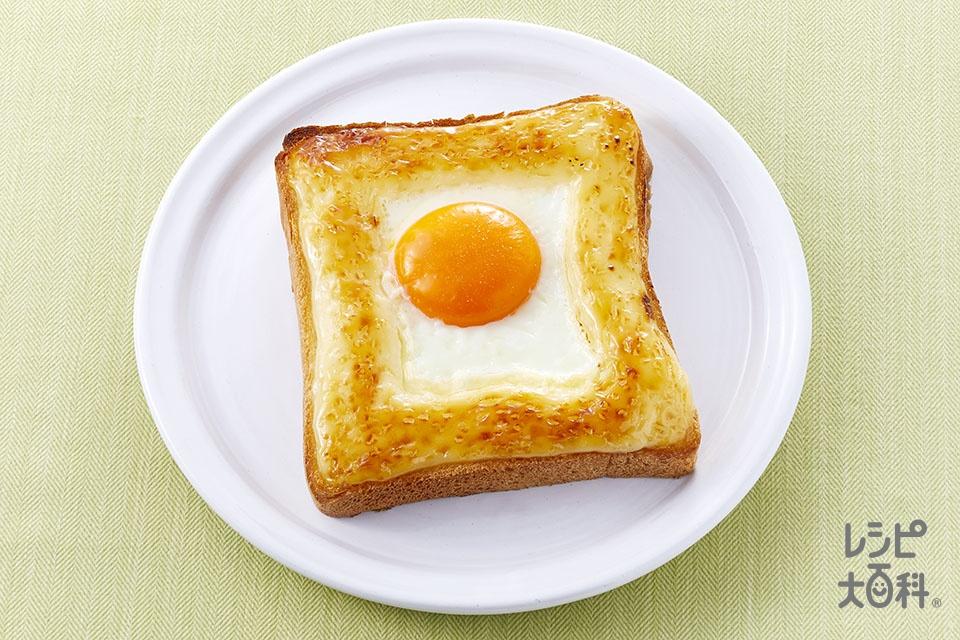 ぶっかけマヨ目玉焼きトースト(食パン6枚切り+「ピュアセレクト マヨネーズ」を使ったレシピ)