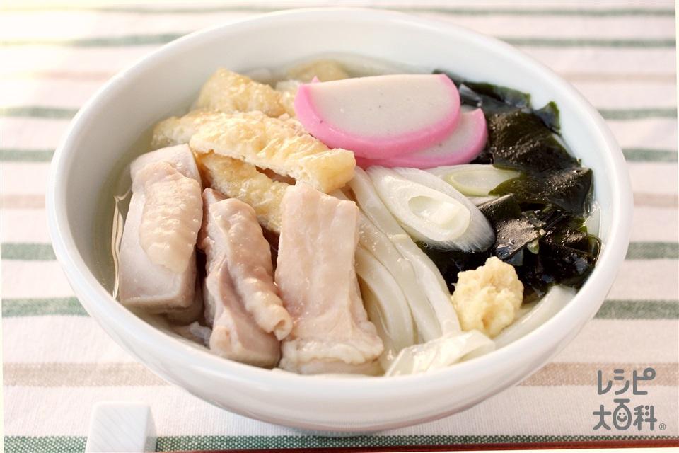 鶏だし・うま塩あっさりうどん(冷凍うどん+鶏もも肉を使ったレシピ)