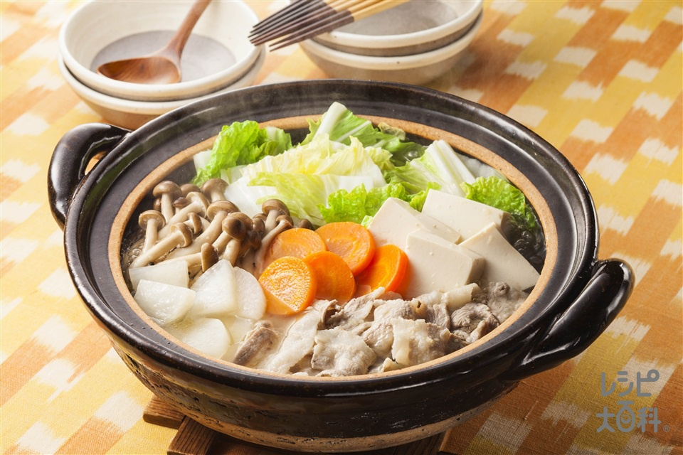 しょうが鍋(白菜+絹ごし豆腐を使ったレシピ)