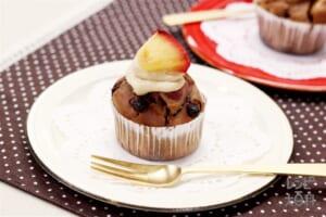 焼きりんごのココアカップケーキ