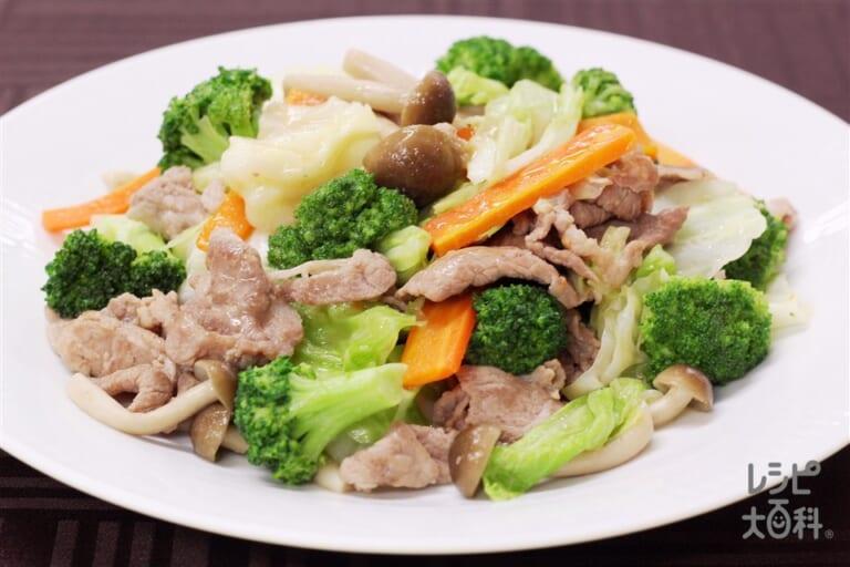 ブロッコリーと豚肉の香味炒め