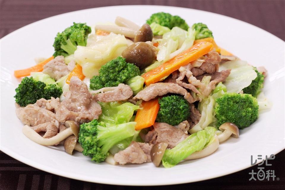 ブロッコリーと豚肉の香味炒め(豚こま切れ肉+キャベツを使ったレシピ)