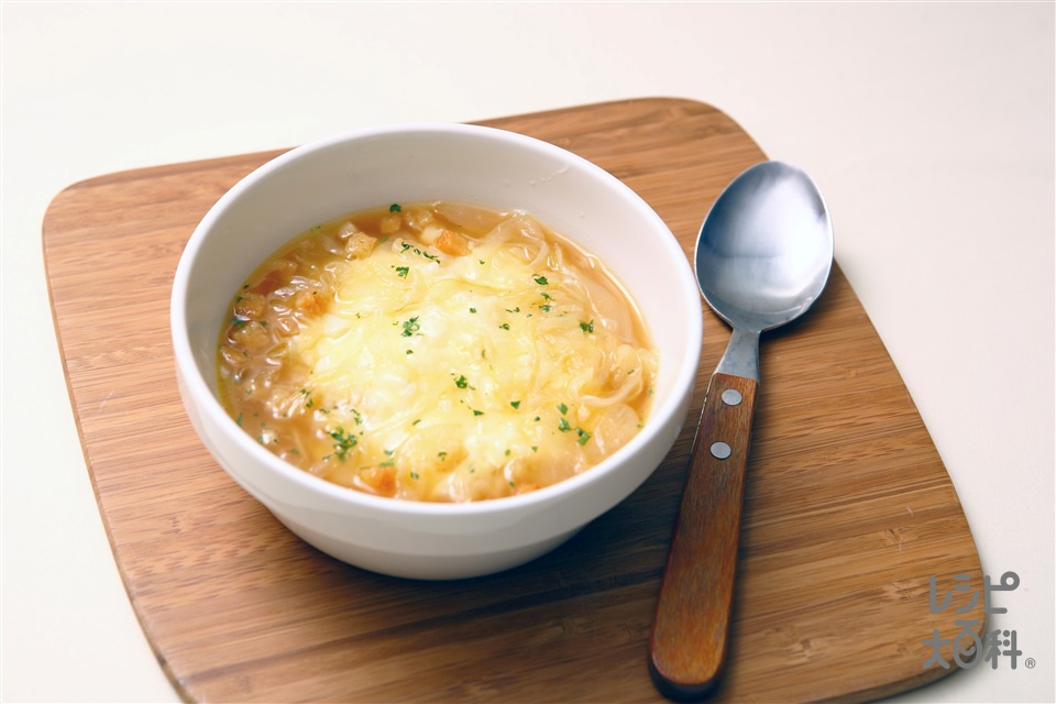 オニグラスープかけごはん(こってり)(ご飯+玉ねぎを使ったレシピ)