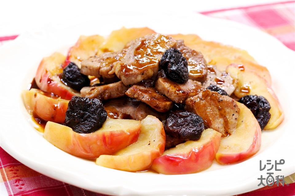 豚肉とりんごの煮込み(豚ヒレ肉+「瀬戸のほんじお」を使ったレシピ)