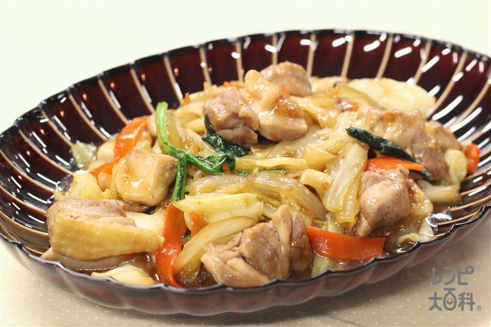 ガリバタ鶏キャベツ(鶏もも肉+袋入りカット野菜(キャベツミックス)を使ったレシピ)