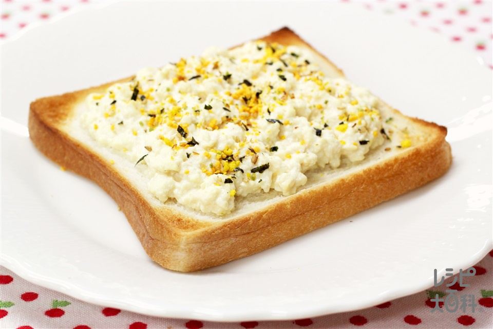 香味とうふトースト(食パン8枚切り+木綿豆腐を使ったレシピ)