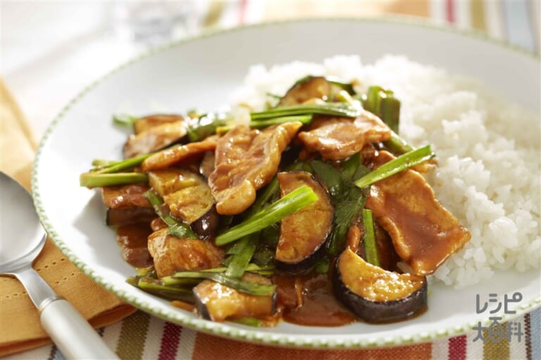 豚肉となすの炒めカレー