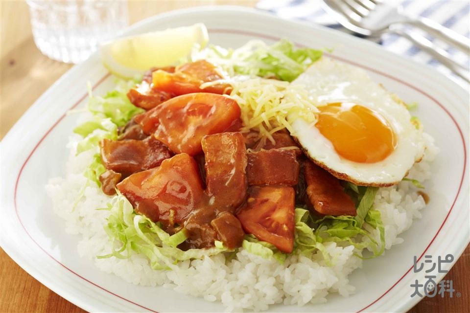 BLT炒めカレー(トマト+ご飯を使ったレシピ)