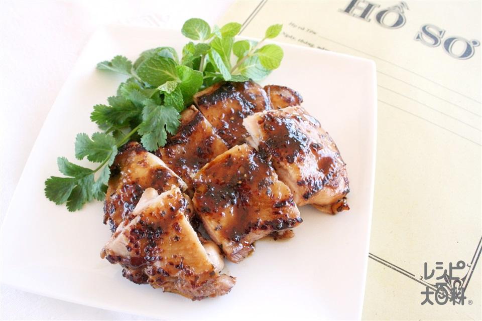 チキンのレモンバジル焼き(鶏もも肉+Aドライバジルを使ったレシピ)