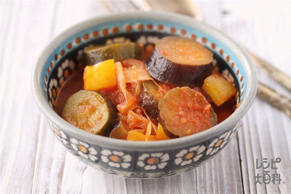 ゴロゴロラタトゥイユ(なす+ホールトマト缶を使ったレシピ)