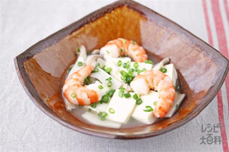 豆腐と海老のうま塩煮