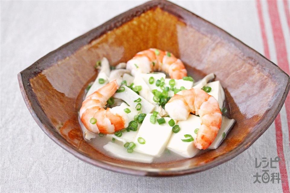 豆腐と海老のうま塩煮(絹ごし豆腐+えびを使ったレシピ)