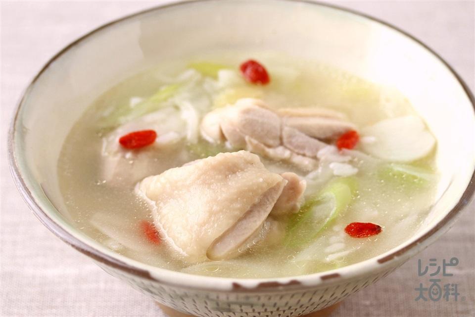 参鶏湯(鶏もも肉+長ねぎを使ったレシピ)