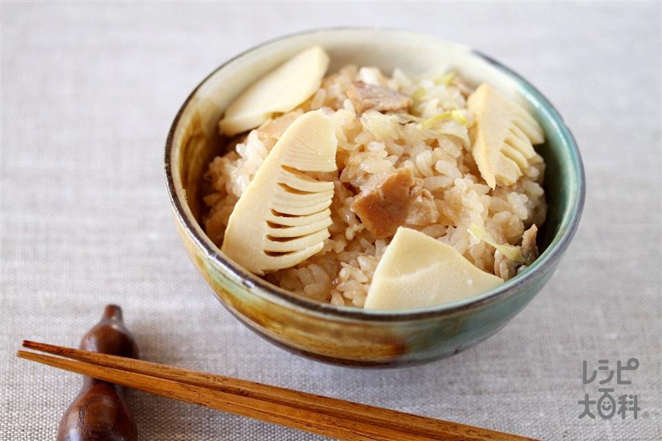 炊き込み中華おこわ(米+焼き豚を使ったレシピ)
