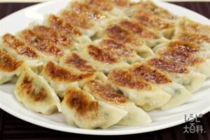 たけのこ入りギョーザ(餃子の皮+白菜を使ったレシピ)