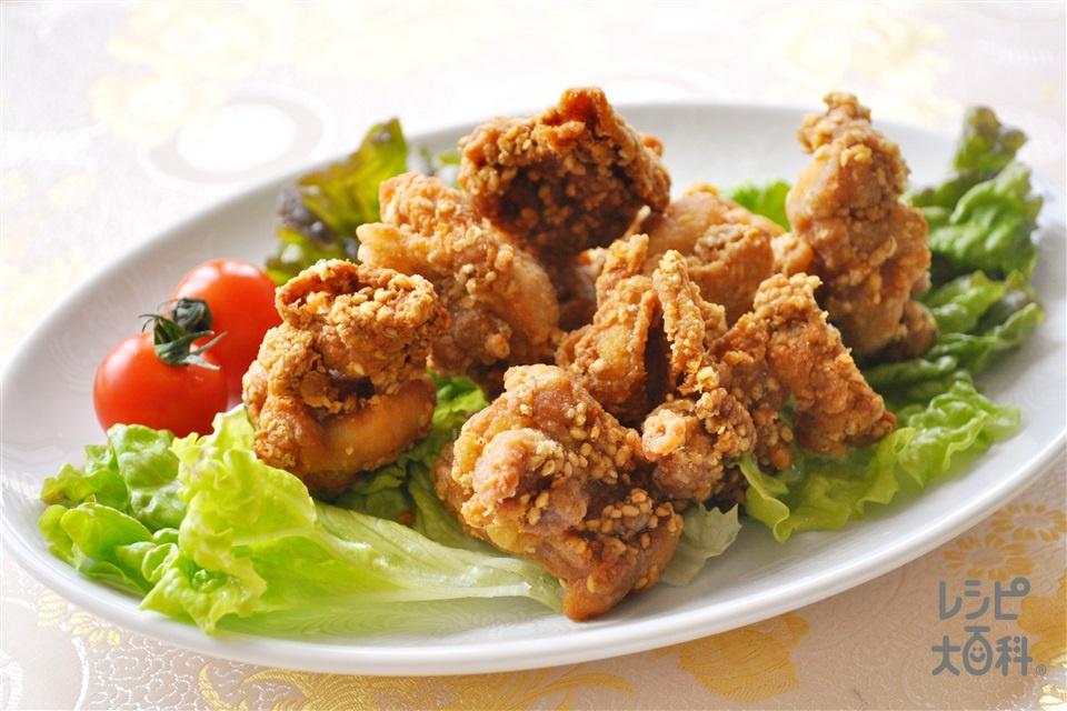 鶏のごま唐揚げ(鶏もも肉を使ったレシピ)