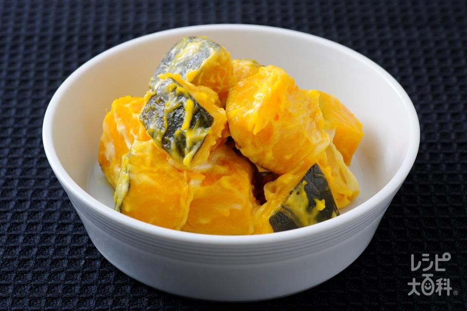 かぼちゃのサラダ(かぼちゃ+砂糖を使ったレシピ)