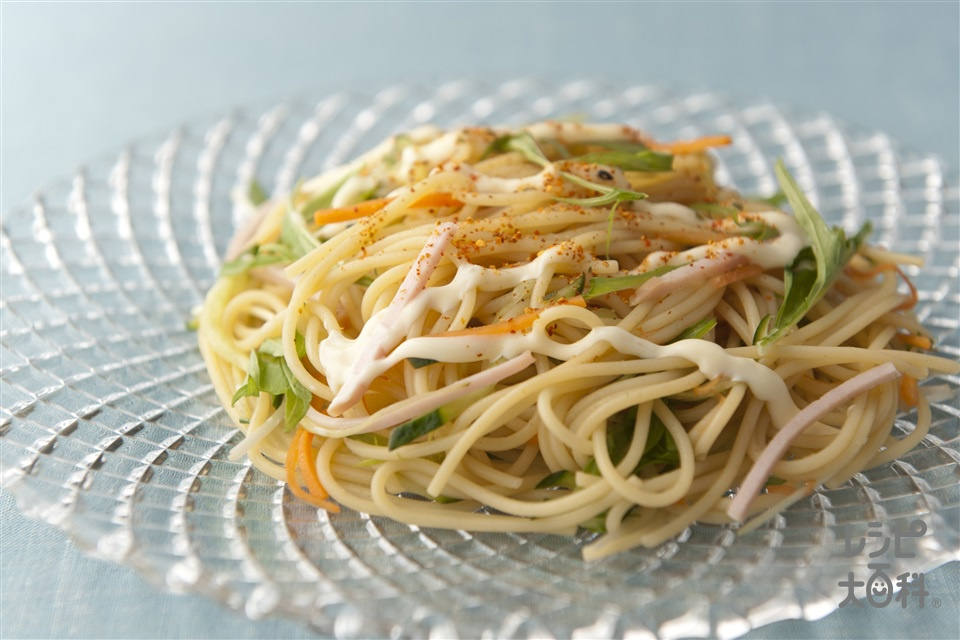 和風冷製パスタ(スパゲッティ+きゅうりを使ったレシピ)
