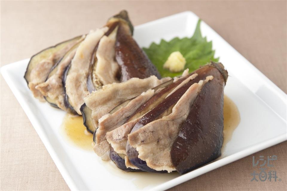 茄子と豚肉の煮物(なす+豚バラ薄切り肉を使ったレシピ)