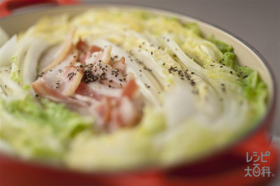 白菜とベーコンの鍋(白菜+ベーコンスライスを使ったレシピ)