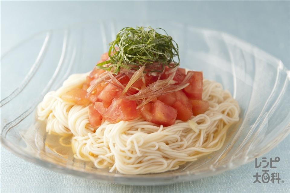 トマトそうめん(そうめん+トマトを使ったレシピ)
