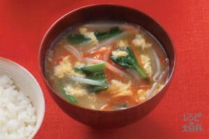野菜たっぷり味噌汁ガーリック風味