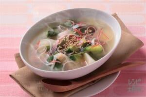 ごろごろ野菜とかにかまの簡単スープ