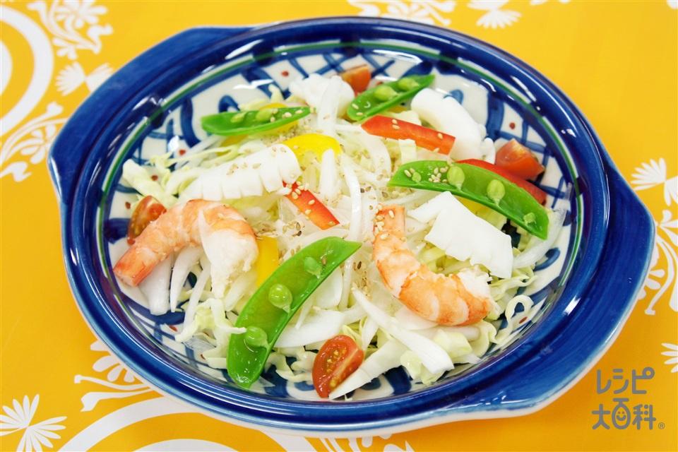 春野菜の中華サラダ(えび+春キャベツを使ったレシピ)